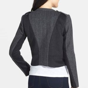 LAMADE 'Blocked Odessey' Tweed Moto Jacket